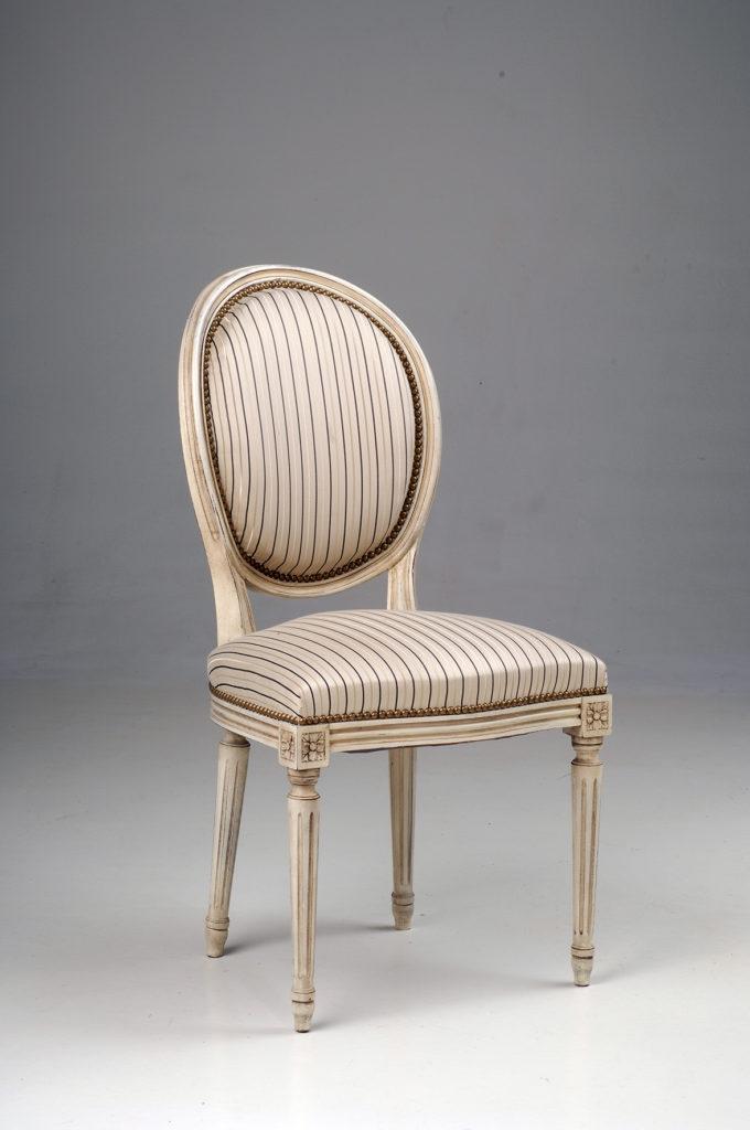 Sièges Bastiat - Fabrication Française - Chaise Médaillon Louis XVI